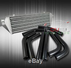 8 Pcs 2.5 Blue Coupler Black Aluminum Piping Kit With 28 X 7 Intercooler