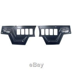 8 Switch Aluminum Dash Panel Set of 2 Black Powdercoated for Polaris RZR XP1000