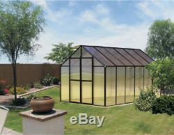 8' x 12' Black Monticello Greenhouse by Riverstone Free Shipping