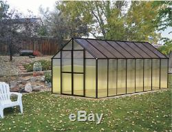 8' x 16' Black Monticello Greenhouse by Riverstone Free Shipping