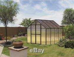 8' x 8' Black Monticello Greenhouse by Riverstone Free Shipping