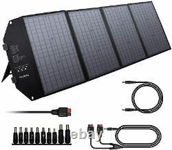 80000mAh Quiet Generator 300Wh Portable Power Station Bank w' 100W Solar Panel