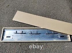 87-96 Aluminum Tailgate Trim Panel Moulding F150 F250 F350 XLT Black Reflector