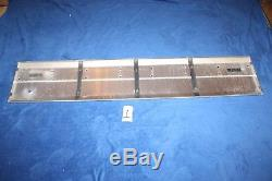 87-96 Ford Bronco TAILGATE Center REFLECTOR Trim PANEL Aluminum BLACK Nice