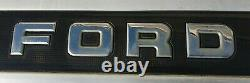 87-96 Ford F150 F250 F350 Truck Rear Tailgate Finish Trim Panel Molding Black