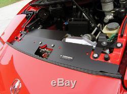 91-01 SCW Acura NSX GT Aluminum Radiator Bracket & Radiator Panel Set Black