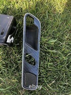 97-04 MERCEDES R170 SLK320 SLK230 CENTER DASH DOOR PANEL Carbon Fiber TRIM SET