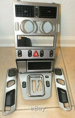 97-04 Mercedes R170 Slk320 Slk230 Center Dash Door Panel Vent Aluminum Trim Set
