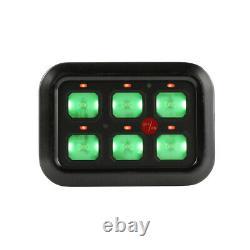 AUXBEAM for Can-Am Outlander 6 Gang Switch Panel Green LED Back Lights UTV ATV