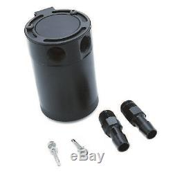 Aluminum 2-Port Compact Baffled Oil Catch Can Tank Universal 3/8 NPT Plug