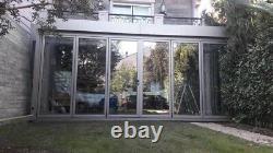 Aluminum Bi fold Doors 6 panels inc Double Glass, Customize Size and Color
