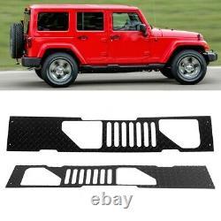 Aluminum Front Windshield Panel Hood Cover Trim For Jeep Wrangler JK 2007-2017