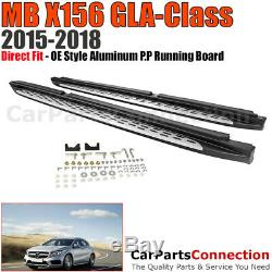 Aluminum Running Board Sidesteps LH RH MB 2015-2018 X156 GLA Class Factory Style