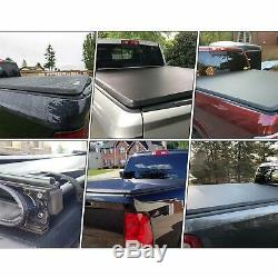 Aluminum Soft Tri-Fold 5FT Tonneau Cover Fit 2005-2019 Nissan Frontier Truck Bed