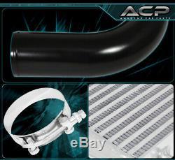 Aluminum Turbo 27.5X7.25X2.5 Front Mount Intercooler +64MM Black Piping Kit