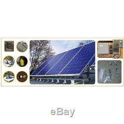 Aluminum and Galvanized Black Panels 4000 Watts Supply Portable Solar Power Kit