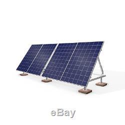 Aluminum and Galvanized Steel Black Panels 960 Watts Portable Solar Power Kit