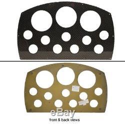 BAJA 30/35 OUTLAW BLACK ALUMINUM 21 5/8 x 13 Inch BLANK BOAT GAUGE PANEL