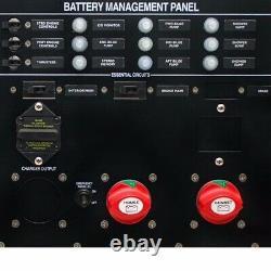 BEP Boat Battery Panel USM-35BMP-VSR-V3 1892859 Black 16 x 16 Inch