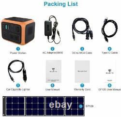 BLUETTI Portable Power Station Solar Panel included AC50S 500Wh Solar Generator