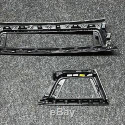 BMW 3er F30 F31 F34 4er F32 F33 F36 Interieurleisten Alu Längsschliff schwarz