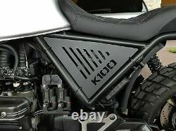 BMW K100 side panels in matt black painted aluminum