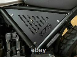 BMW K75 side panels in matt black painted aluminum