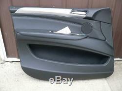 BMW X5 2ND GEN E70 BLACK LEFT FRONT INTERIOR DOOR PANEL WithALUMINUM TRIM 07-13