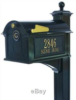 Balmoral Monogram and Post Mailbox Side Panel in Black ID 3908316