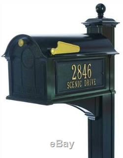Balmoral Post Mailbox Side Panel Package in Black ID 3908319