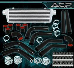 Bar Plate Fmic Front Mount Intercooler +2.5 Turbo Aluminum Pipes Piping Kit Jdm