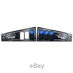Billet Aluminum CNC Dash Panel Black Powdercoated for 2017+ Polaris RZR XP1000
