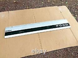 Black 1992-1996 Ford Truck OEM Tailgate Trim Panel Aluminum f-150 F-250 F-350