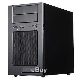 Black, 2x USB3.0, Aluminum front panel, for Micro ATX, 5.25, 3.5 x2 Exposed