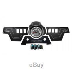 Black 3 Piece Aluminum Dash Panel Billet Rocker Switch CNC Polaris RZR XP1000