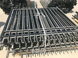 Black Aluminium Fencing Panels and Posts (4 Skids)