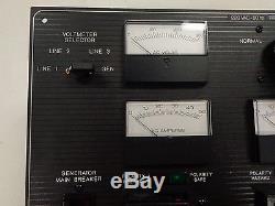 Black Aluminum 220 Vac 50 Hertz Main Breaker Panel 19 1/2 X 17 1/4 Marine Boat