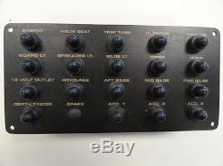 Black Aluminum Circuit Breaker (19) Panel 8 X 4 Marine Boat