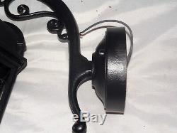 Black Cast Aluminum 6 Panel Electric Wall Sconce By Melissa Dallas Texas