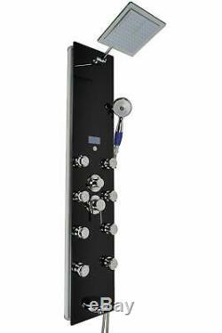 Blue Ocean 52 Aluminum SP787392B Shower Panel Tower with Rainfall Shower Hea
