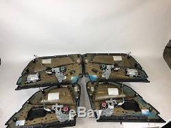 Bmw Oem M5 E60 All 4 Interior Inner Door Panel Black Merino Leather Rear Shade
