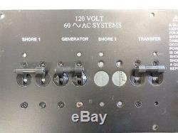 Breaker Panel 120 Volt Black Aluminum 13 X 10 1/4 Marine Boat
