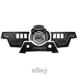CNC Billet Aluminum 3pc Rocker Switch Dash Panel Polaris RZR S 900 Stealth Black