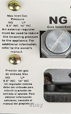 Calefactor Calentador De Espacio Calefaccion De Gas Natural 30.000 BTU Cero Frio