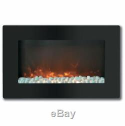Callisto 30 In. Wall-Mount Electric Fireplace with Flat Panel