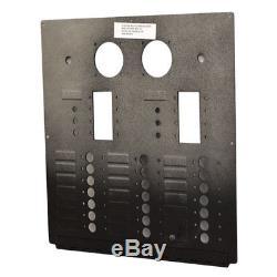 Carver 5765716 Black Textured 24 V 50hz Aluminum Boat Ac Blank Breaker Panel