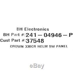 Crownline Boat Helm Switch Panel37548 340 CR Black Aluminum