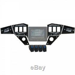 Custom CNC Billet Aluminum Dash Panel Black for 2015-Up Polaris RZR with GPS
