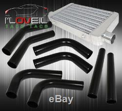 Custom Diy 2.5 Black Aluminum Turbo Piping Kit + 26 X 3 X 11 Intercooler