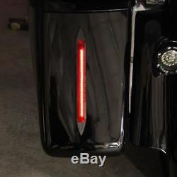 Custom Dynamics Universal Saddlebag/Filler Panel TRUEFLEX Light Bars Black/Red